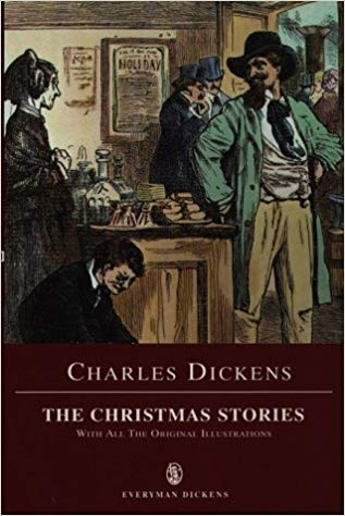 Book cover for Dickens Christmas Stories edited Glancy