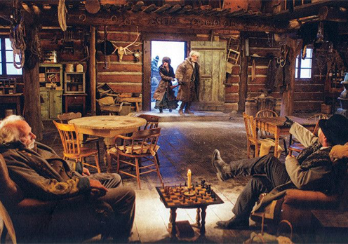 mage result for hateful eight cabin